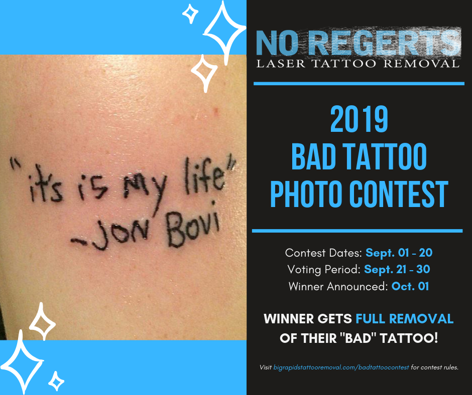Bad Tattoo Photo Contest Big Rapids Michigan Win Laser Tattoo Removal